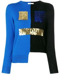 Peter Jensen - Bicolour Sequin Face Sweater - Lyst