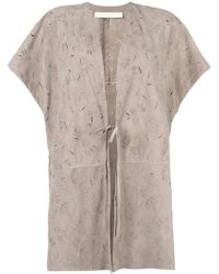 DROMe | Tied Fastening Shortsleeved Coat | Lyst