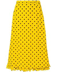 Alessandra Rich - Polka Dot A-line Skirt - Lyst