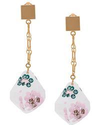 Marni - Suspended Flower Drop Earrings - Lyst
