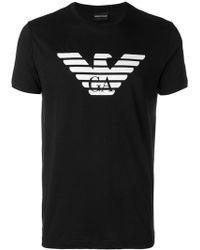 Emporio Armani - Logo Printed Short Sleeve T-shirt - Lyst