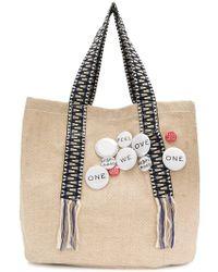 Dorothee Schumacher - Badge Embellished Shoulder Bag - Lyst
