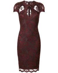 Olvi ́S - Lace-embroidered Cut-detail Dress - Lyst