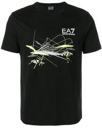 EA7 - Trainer Print Logo T-shirt - Lyst
