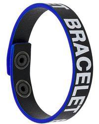 DIESEL - Slogan Cuff Bracelet - Lyst