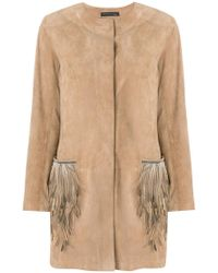 Fabiana Filippi - Feather Embellished Coat - Lyst