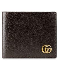 76aa6b3929858b Lyst - Gucci Gg Marmont Leather Coin Wallet in Brown for Men