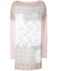 Faith Connexion - Tweed And Lace Patch Mini Dress - Lyst
