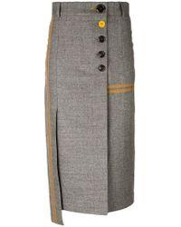Eudon Choi - Phoebe Asymmetric Pencil Skirt - Lyst