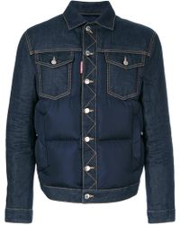 DSquared² - Padded Denim Jacket - Lyst