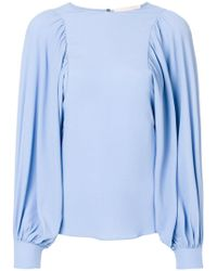 Erika Cavallini Semi Couture - Wide Sleeve Blouse - Lyst