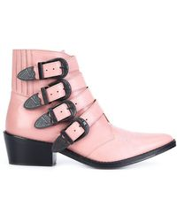 Toga Pulla - Buckled Strap Ankle Boots - Lyst