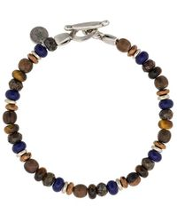 Eleventy Bracelet à perles - Marron