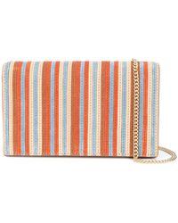 Diane von Furstenberg - Woven Stripe Shoulder Bag - Lyst
