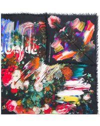 Alexander McQueen - Dripping Flower Print Scarf - Lyst