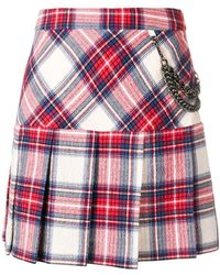 Boutique Moschino - Plaid Pleated Skirt - Lyst