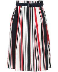 Guild Prime - Striped Belted Skirt - Lyst