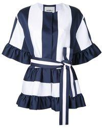 Goen.J | Stripe Panel Belted Jacket | Lyst
