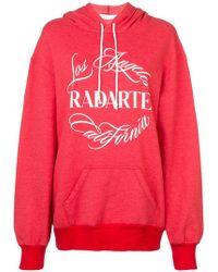 Rodarte - Sudadera con capucha y logo estampado - Lyst