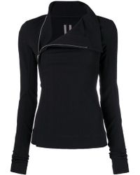 Rick Owens - Fitted High-neck Jacket - Lyst