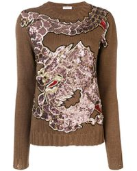P.A.R.O.S.H. - Dragon Sequin Embroidered Jumper - Lyst