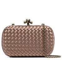 Bottega Veneta Crocodile Leather Knot Bag in Gray - Lyst 0580af1f3d482