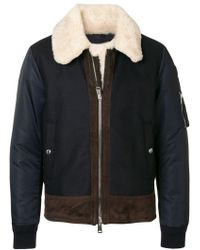 Moncler - Shearling Padded Jacket - Lyst