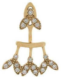 Yvonne Léon - 18kt Gold And Diamond Earring - Lyst