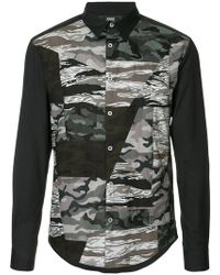 ANREALAGE - Camouflage Panelled Shirt - Lyst