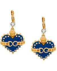 Dolce & Gabbana | Heart Drop Clip-on Earrings | Lyst
