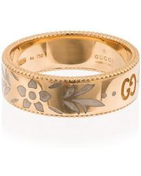 Gucci - 18k Yellow Gold Icon Motif Ring - Lyst