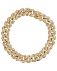 SHAY - Yellow Gold Essential Link Bracelet With White Diamonds - Lyst