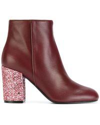 Pollini - Glitter Heel Boots - Lyst