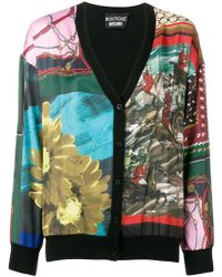 Boutique Moschino - Mixed Print Cardigan - Lyst