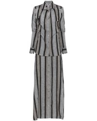Y. Project - Striped Linen Maxi Dress - Lyst