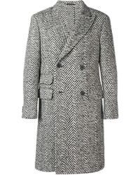 Z Zegna - Double-breasted Coat - Lyst