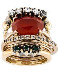 Iosselliani - 'anubian Jewels' Ring Set - Lyst