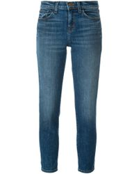 J Brand - Stonewashed Cropped Jeans - Lyst