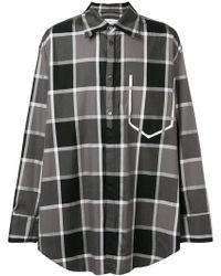 Maison Margiela - Two-tone Large Checked Shirt - Lyst