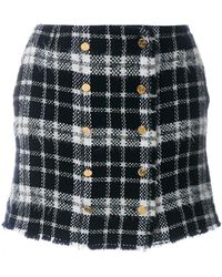 Thom Browne - Front-buttoned Lightweight Tweed Mini Skirt - Lyst