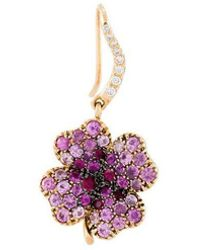 Aurelie Bidermann - 18kt Gold Clover Sapphire Earring - Lyst