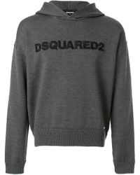 DSquared² - Logo Printed Hoodie - Lyst