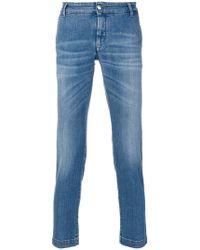 Entre Amis   Cropped Slim Fit Jeans   Lyst