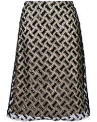 Bellerose - Embroidered Midi Skirt - Lyst