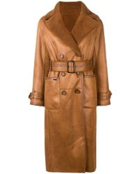 Urbancode - Double Breasted Coat - Lyst
