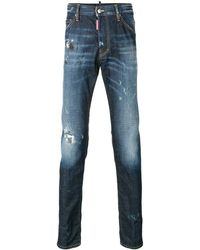 DSquared² - Twins Faded Jeans - Lyst