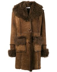 P.A.R.O.S.H. - Shearling Coat - Lyst