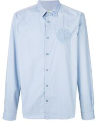 Versace Jeans - Embroided Logo Shirt - Lyst