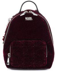 Karl Lagerfeld - Karl X Kaia Velvet Mini Bpack - Lyst