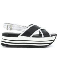 Hogan - Platform Slingback Sandals - Lyst